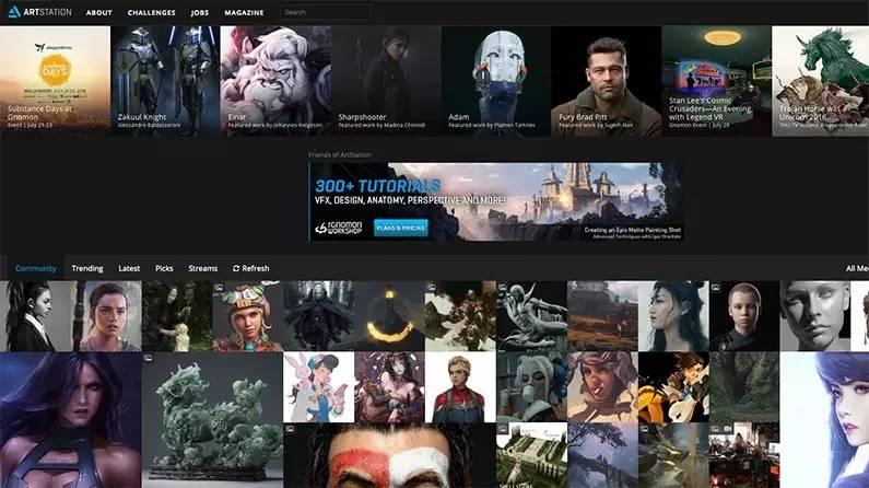 这几个国外的CG作品网站,一定要知道